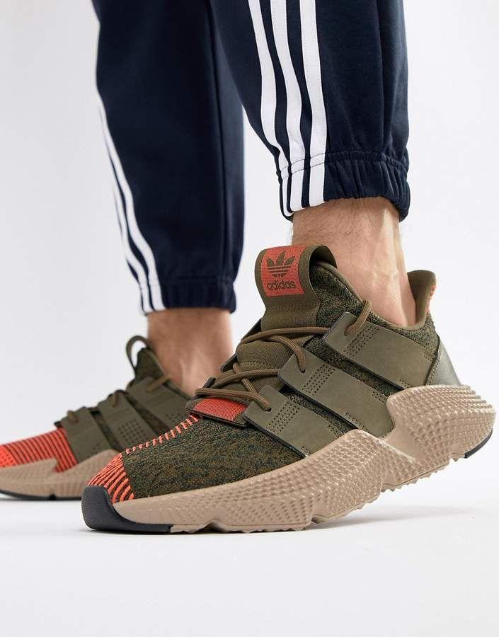 293b1a2a59b7bd adidas Originals Prophere Sneakers In Green CQ2127