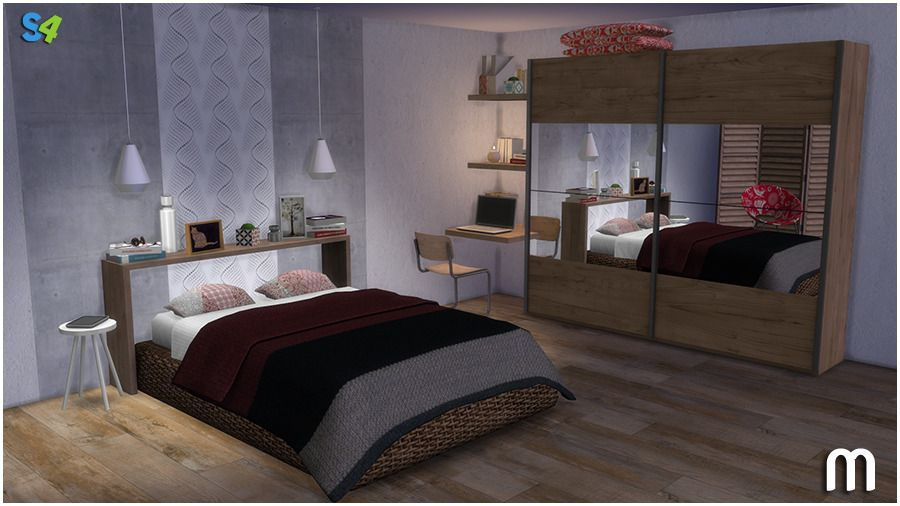 Pin By Kirsten Kerr On Sims Sims 4 Bedroom Sims 4 The