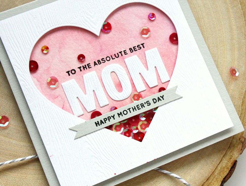 Chinco Mothers Day Greeting Gift Cards,6 Unique Assorted Kraft Die Cut Design Mothers Day Gift Best Mom Ever Cards for Mothers Day Mothers Birthday Party Supplies Envelopes Included(12 Pieces)