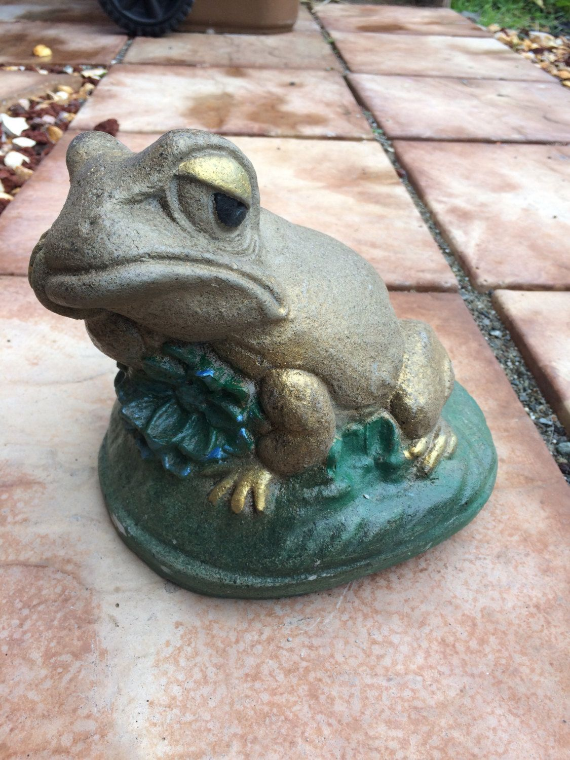 Thinking Frog Garden Yard Patio Decor Concrete Statue By  ConcreteCreations66 On Etsy #cement #statue #garden #decor