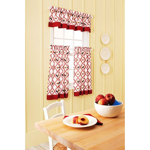 9 88 Red Rooster Kitchen Curtains From Wal Mart