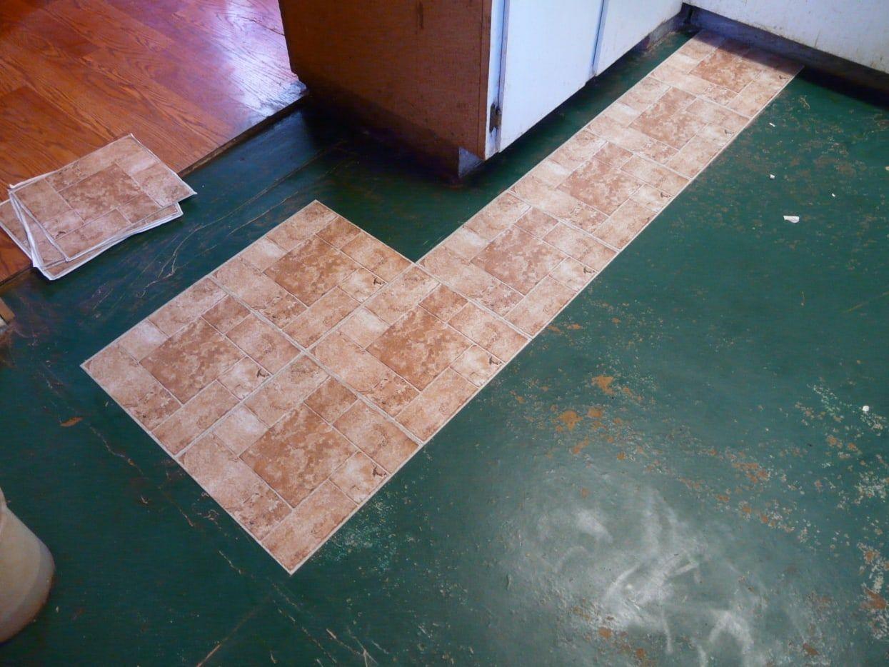 How to lay peelandstick vinyl tile flooring in 2020