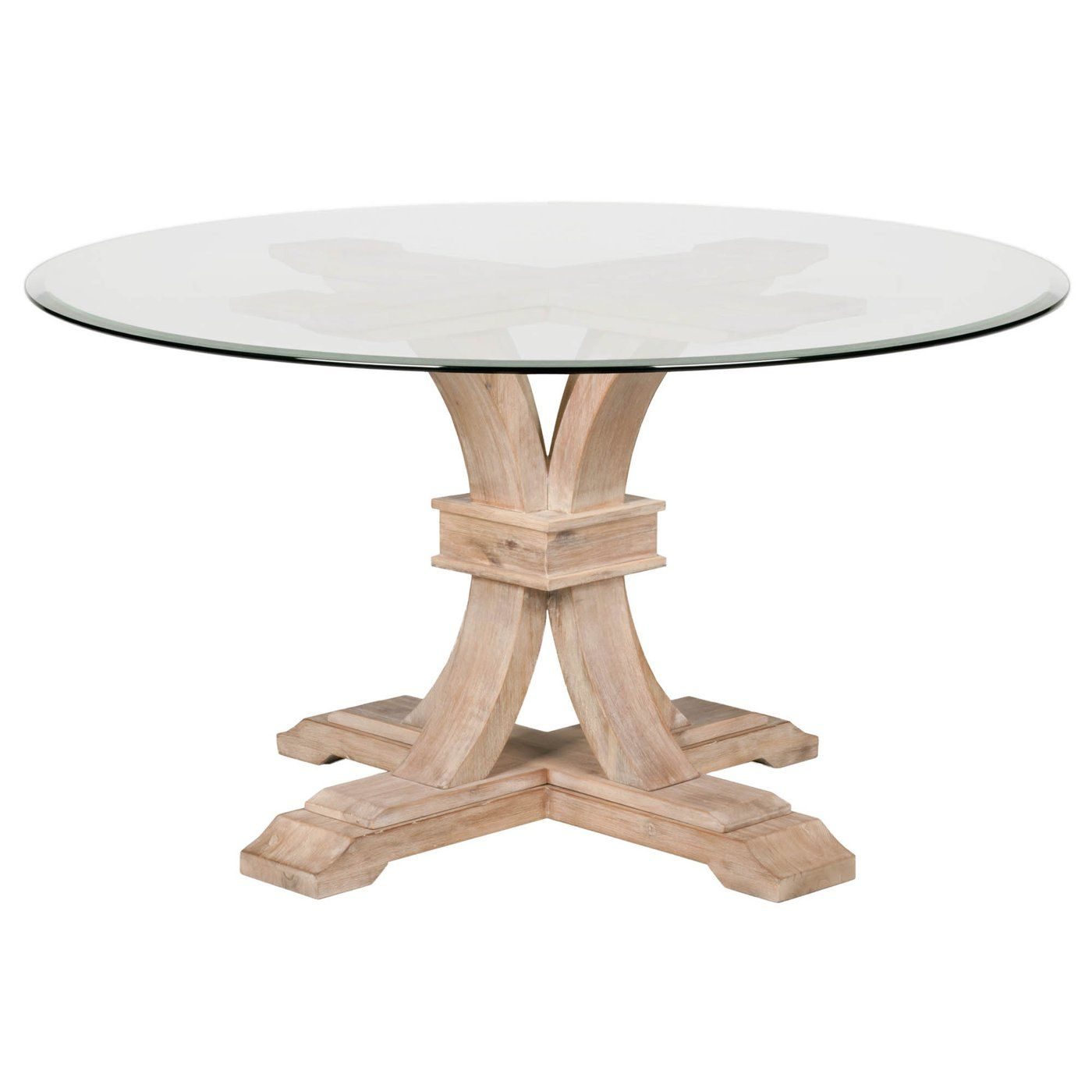 Devon 54 Round Glass Dining Table Glass Round Dining Table