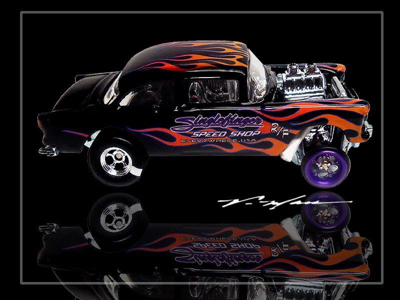 Hot Wheels V Man Custom 55 Gasser Singlefinger Rules Anodized Alum Fronts Ebay Hot Wheels Diecast Cars Van For Sale