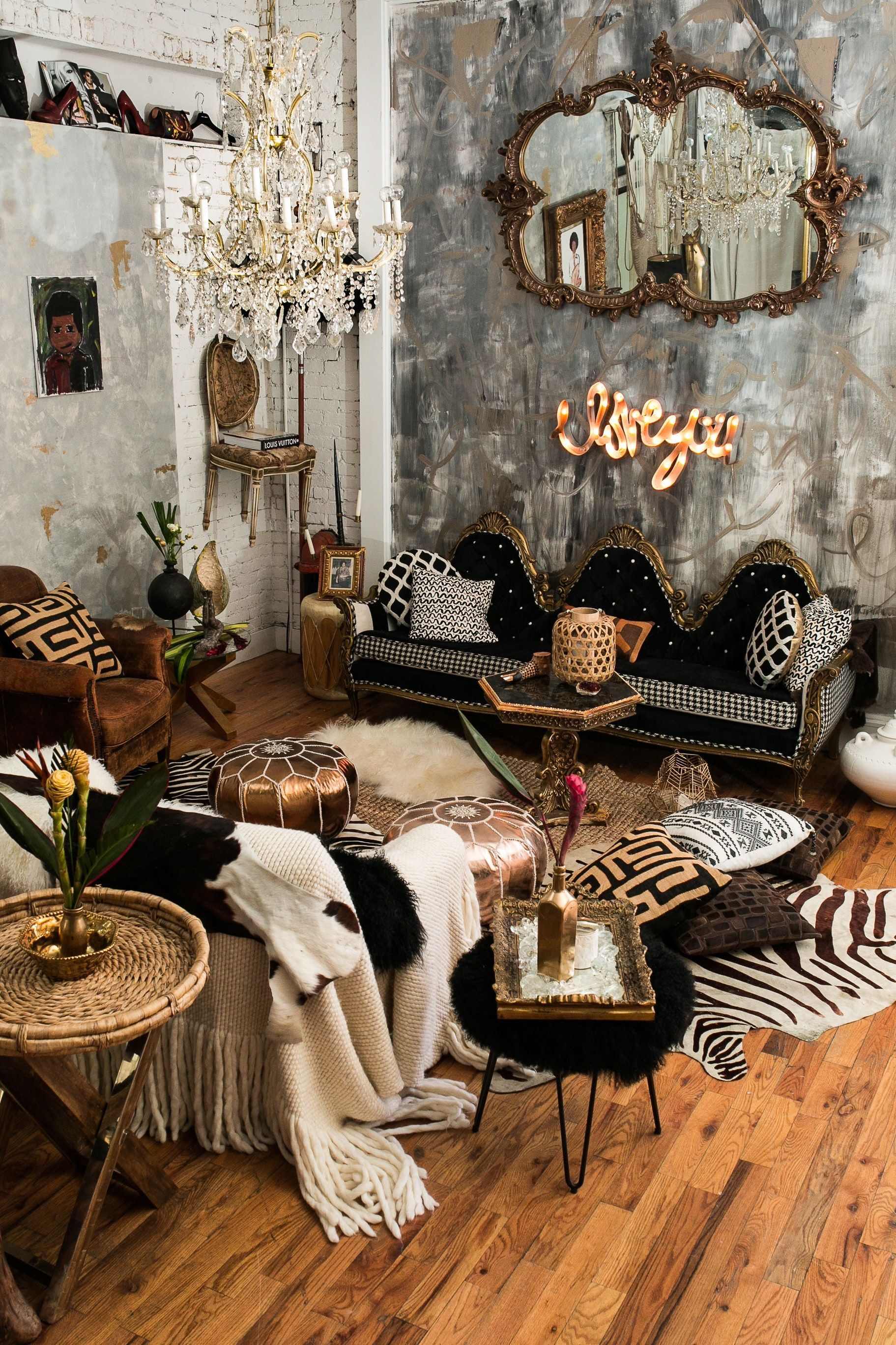 This Loft In A Restored Firehouse Is Fearlessly Decorated Maximalist Decor Eclectic Decor Decor