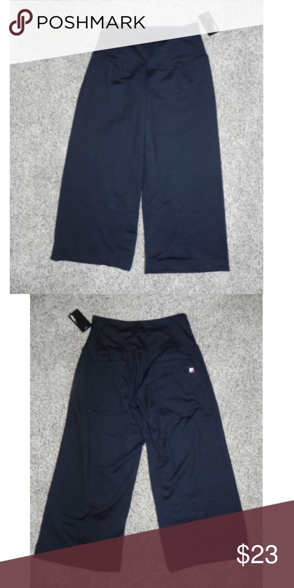 b90cde8c8e44 Fila Athletic Pants Black XS Loose Fit Capri NWT Fila Athletic Pants Black  XS Loose Fit
