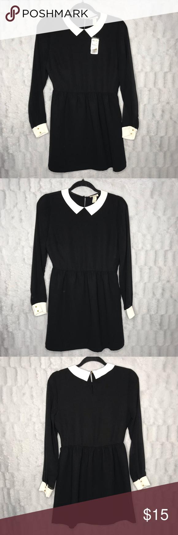 Nwt Forever 21 Black White Long Sleeve Shirt Dress White Long Sleeve Shirt Dress Dress Shirt Sleeves Long Sleeve Shirt Dress [ 1740 x 580 Pixel ]