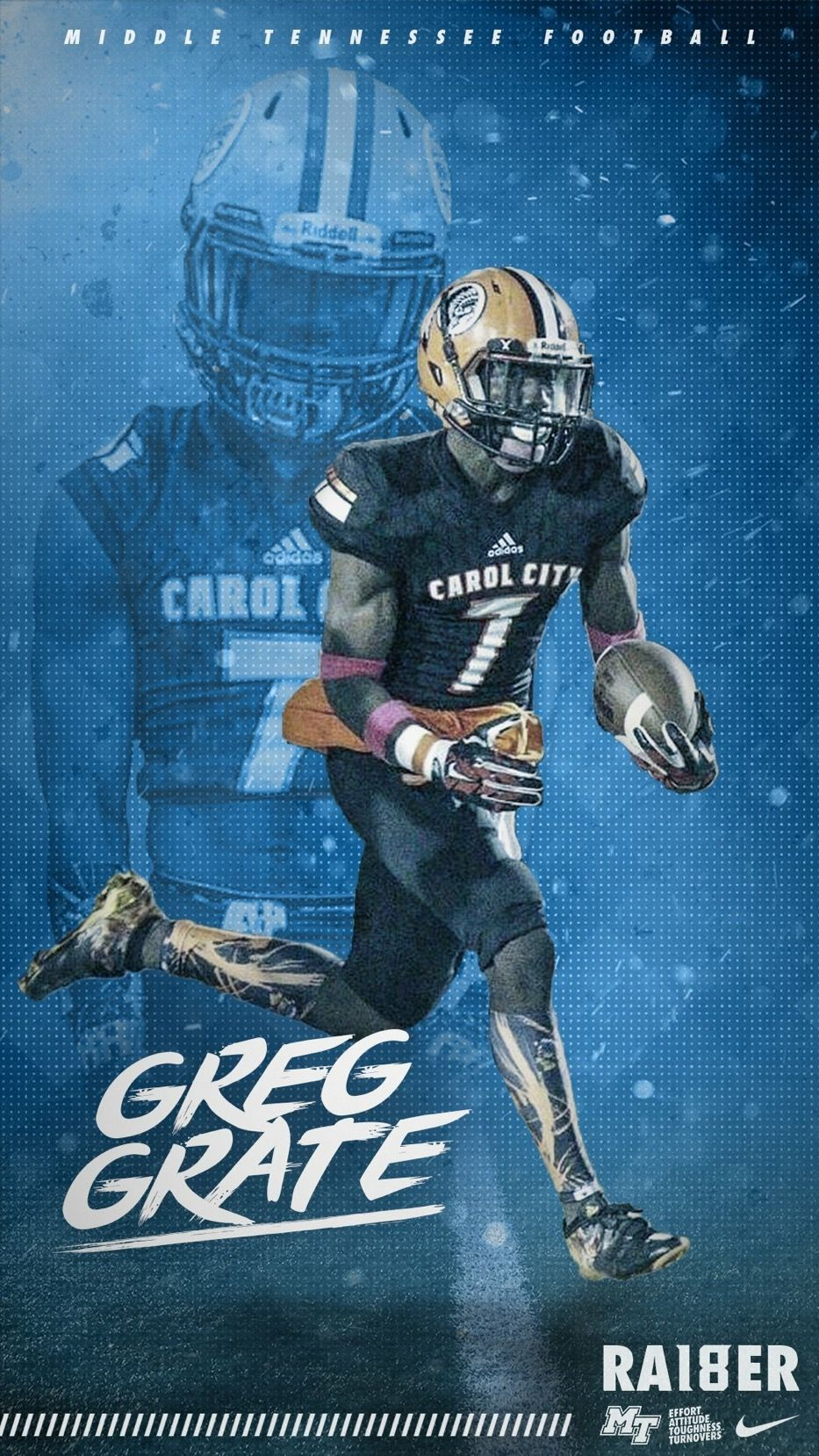 Middle Tennessee Sports design, College sports graphics