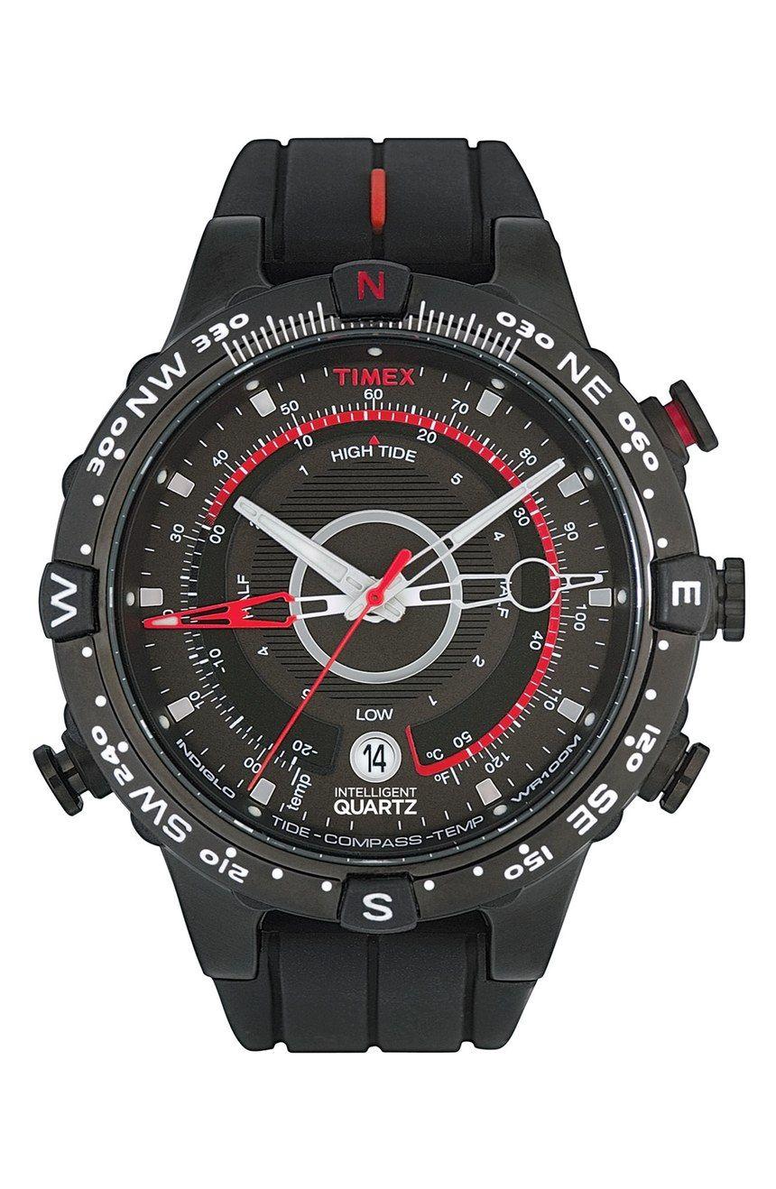 ce3b37f8b25b Main Image - Timex®  Intelligent Quartz  Tide   Compass Silicone Strap Watch