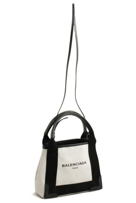 e794b41ebb3 Balenciaga navy cabas extra small bag black borsa in tela navy cabas extra  small nera Balenciaga