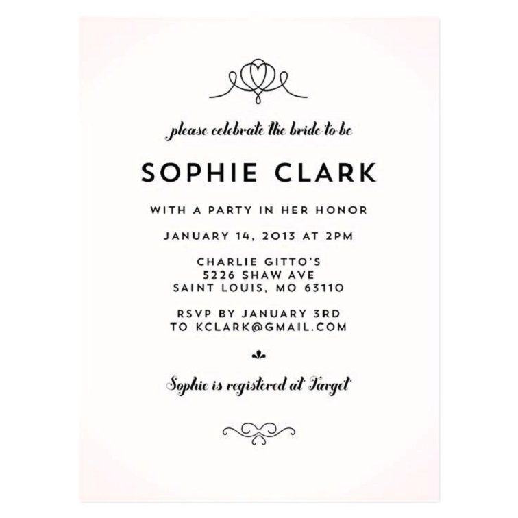 Bridal Shower Invitation Money Wording
