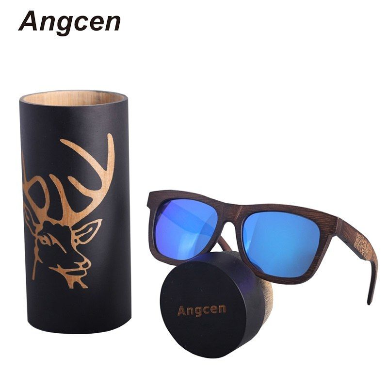 4f26c6643037 Angcen Unisex Polarized Sunglasses Men Driving Wood Bamboo Handmade Vintage  Retro Sunglasses Women Brand Designer Eyewear