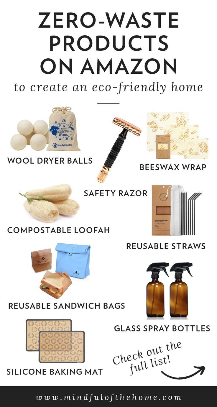 Want some plastic-free reusable products to start living a more sustainable lifestyle? These zero-waste products on Amazon will help get you started! You'll save money and help the planet at the same time, just by creating an eco-friendly home. #zerowaste #amazon #zerowasteliving #ecofriendly #ecofriendlyliving #mindfulofthehome #ecoconscious #sustainability #sustainableliving