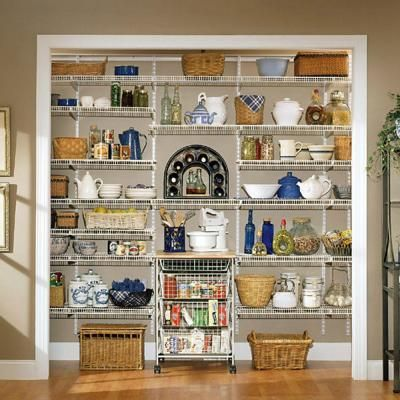 Closetmaid Close Mesh 72 In W X 20 In D Ventilated Pantry Shelf 1396 The Home Depot Pantry Shelving Kitchen Wicker Storage Closetmaid
