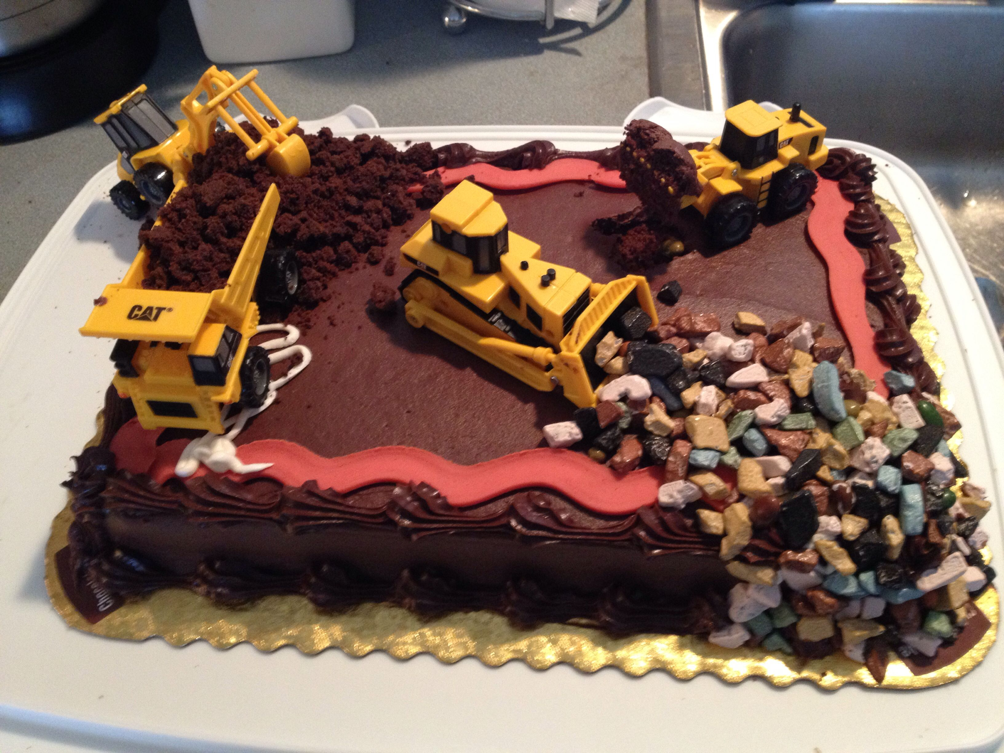 Construction Site Cake Store Bought Chocolate Cake With Chocolate