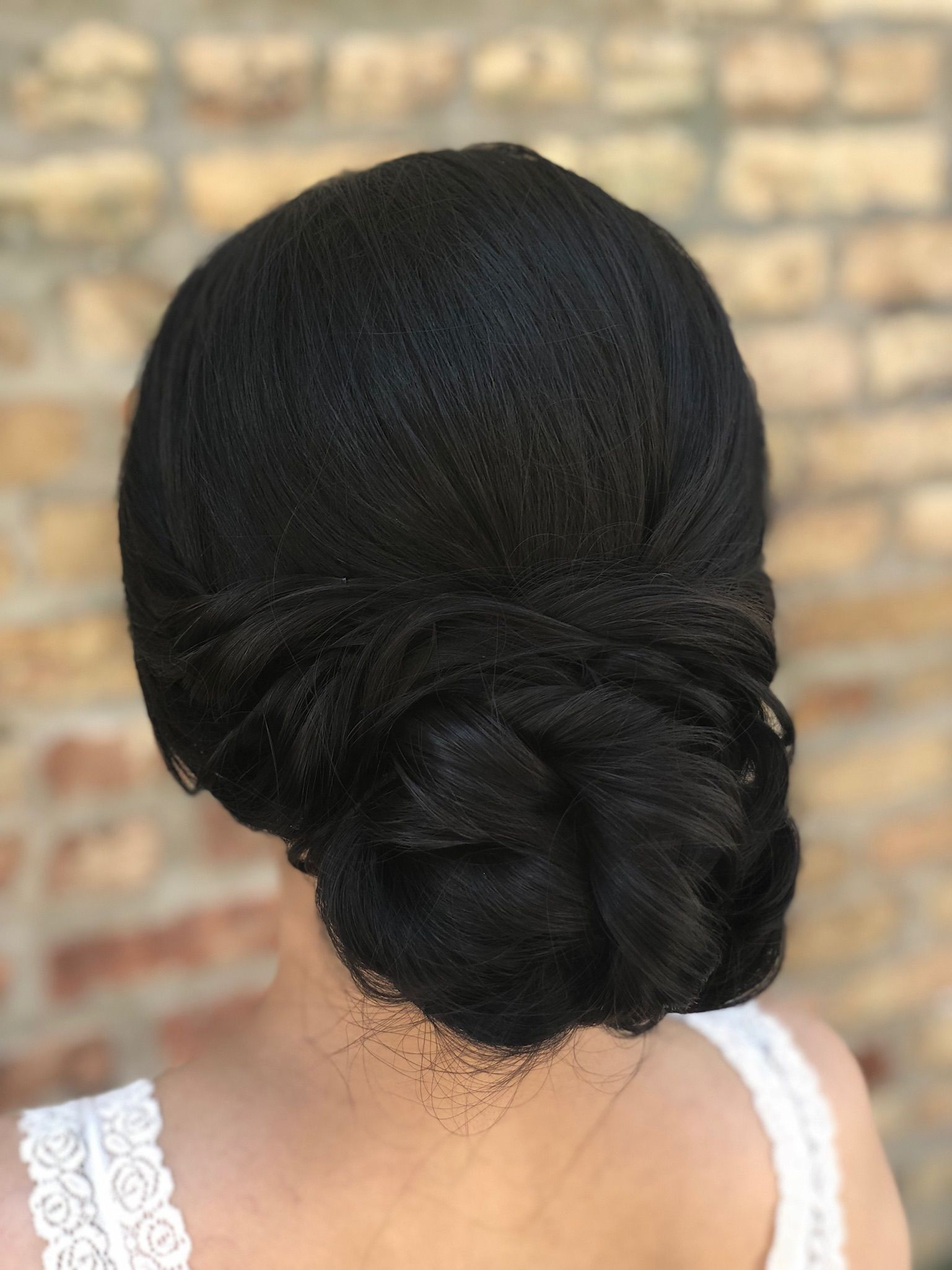 Bridal trial files low classic updo hair by goldplaited