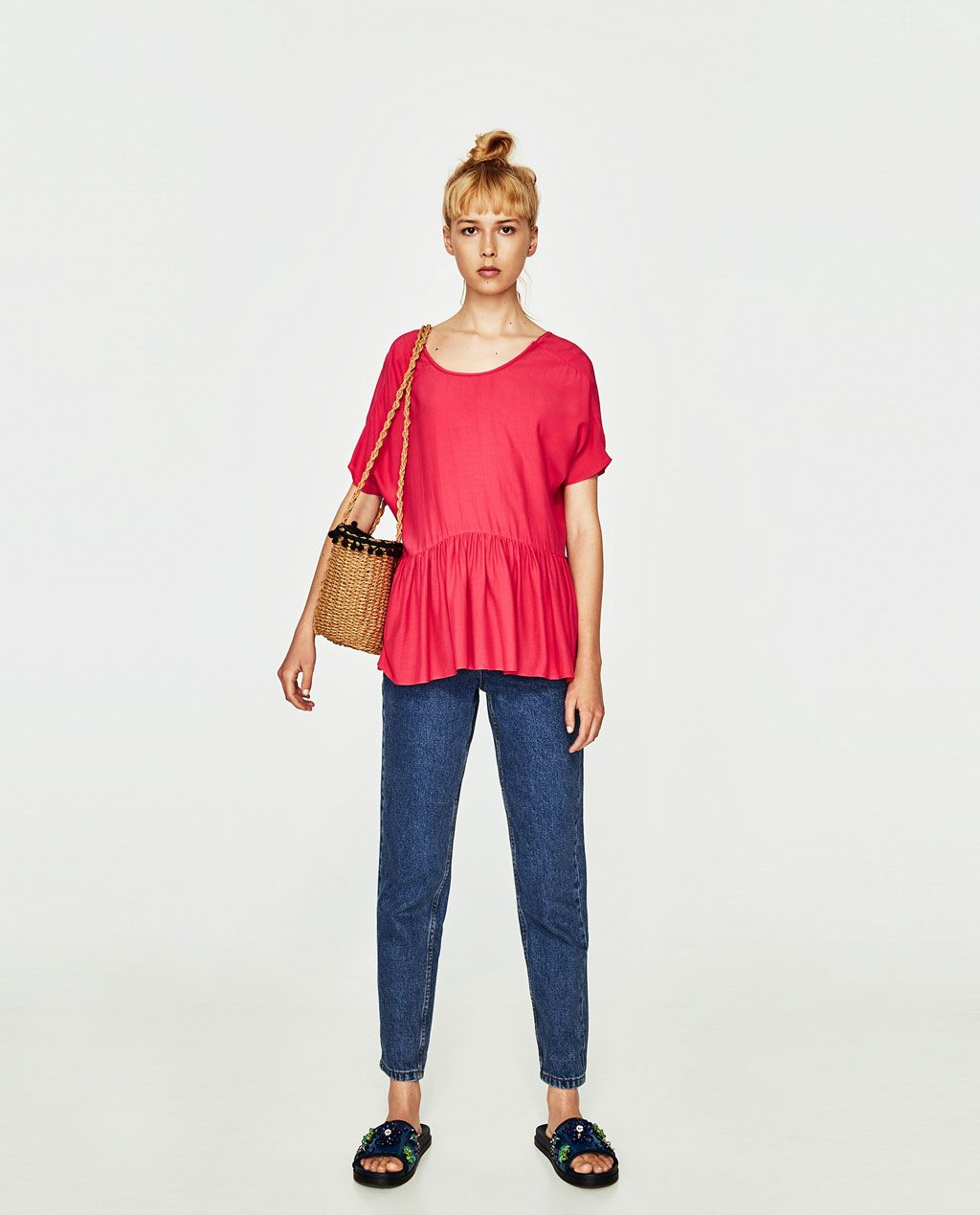 TOP WITH POMPOMS IN BACK-View All-TOPS-WOMAN-SALE | ZARA Spain