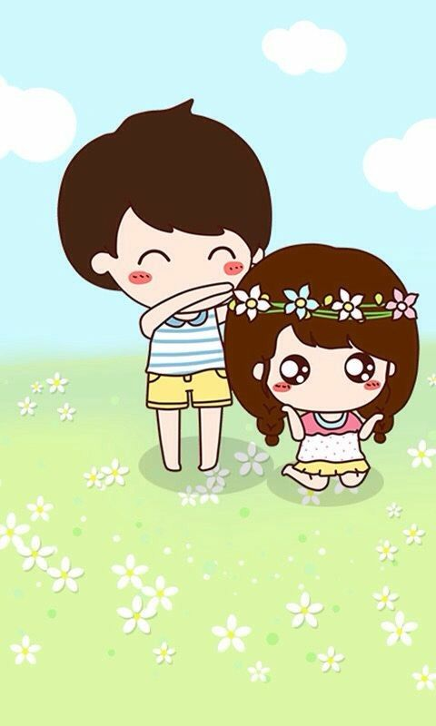 Pin By Rose On Iphone Cute Couple Cartoon Cute Wallpapers Japanese Drawings