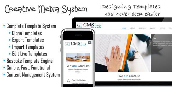 Creative management system cms lite pinterest psd templates download free creative management system backup site clone templatethemes coded elements maxwellsz