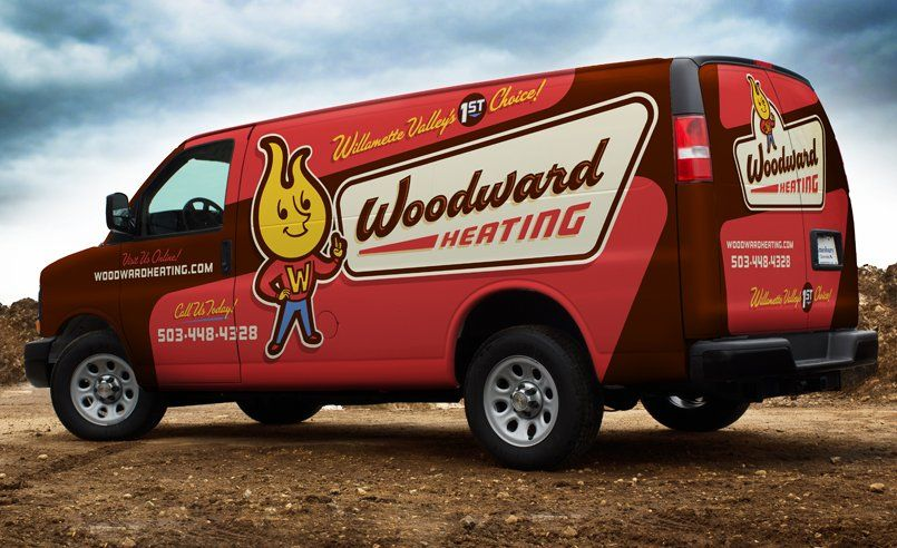 Truck Wrap Design For Woodward Heating Nj Advertising Agency