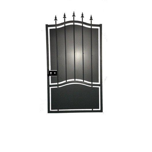 Portillon Battant Tangara L 100 Noir Portillon Deco Maison Noir