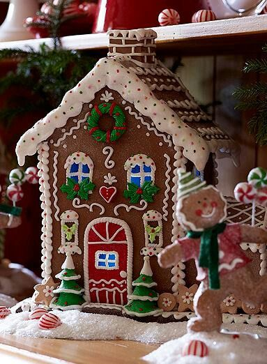 valuable valerie parr hill christmas s gingerbread houses from qvc - Qvc Christmas Decorations