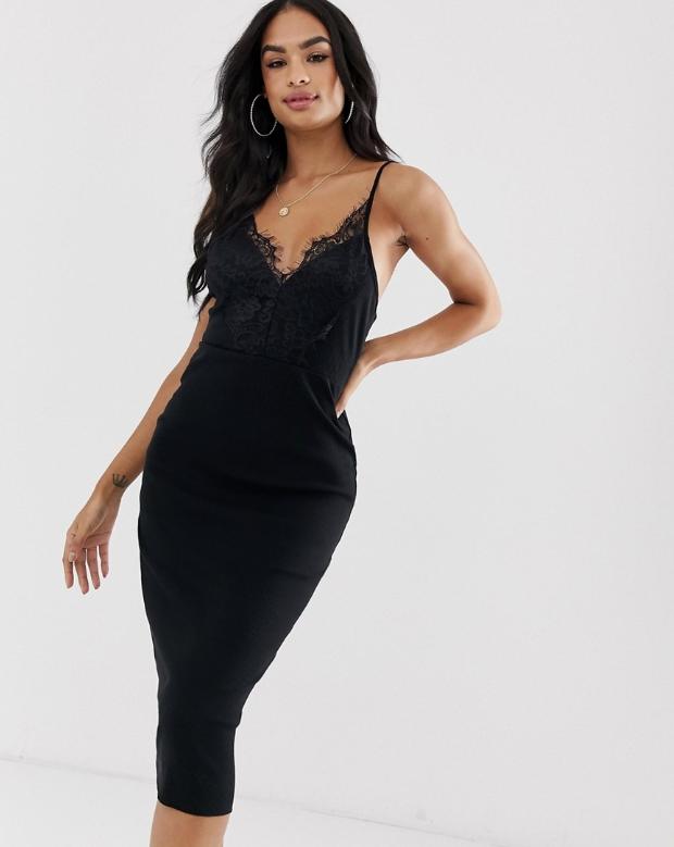 Czarna Sukienka Z Koronka S Yn Xdc 8945438155 Oficjalne Archiwum Allegro Ribbed Bodycon Dress Lace Dress Bodycon Dress