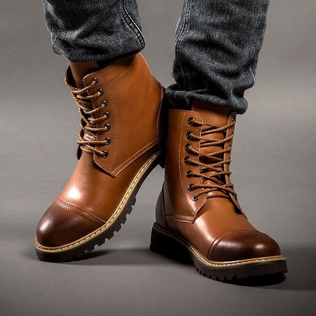 Winter Martin boots/Male English leather men boots