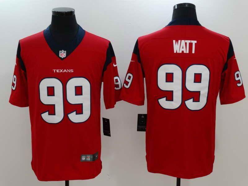 ... 50% off 23 mens huston texans 99 j.j. watt red vapor untouchable player  nike limited 93d5d6d52