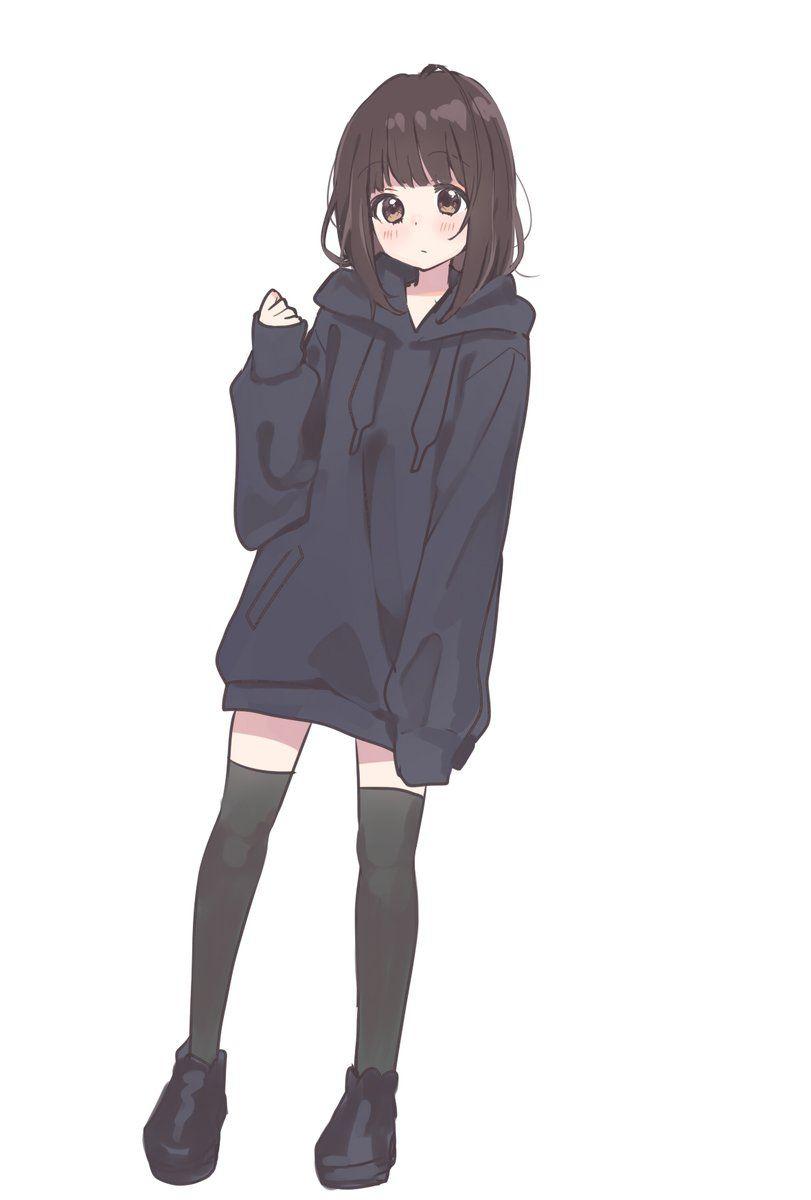 Hoodie Original Desenhos De Meninas Do Anime Menina Anime