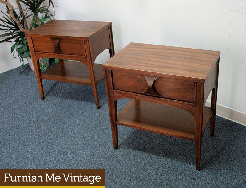 Our Bedroom Kent Coffey Perspecta Rosewood Pecan Nightstand - Kent coffey bedroom furniture