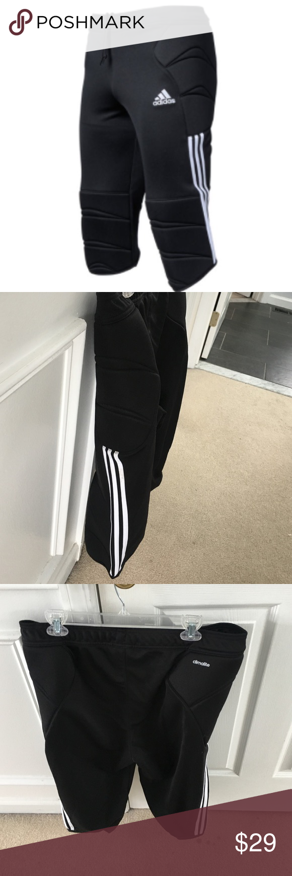 Adidas men's tierro 13 goalkeeper 34 pants Black Adidas