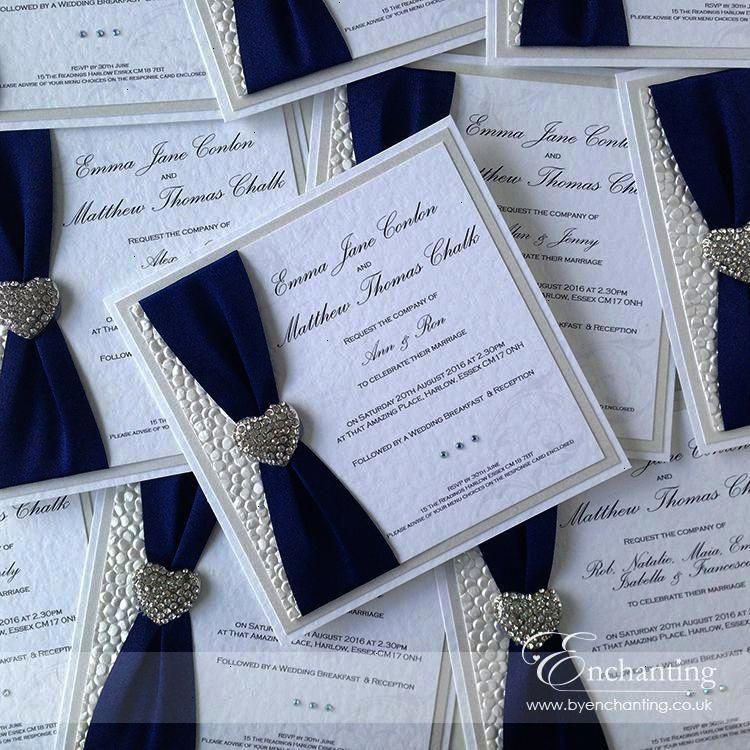 Navy Wedding Invite The Ariel Collection Luxury Flat Invitation Feat Homemade Wedding Invitations Handmade Wedding Invitations Making Wedding Invitations