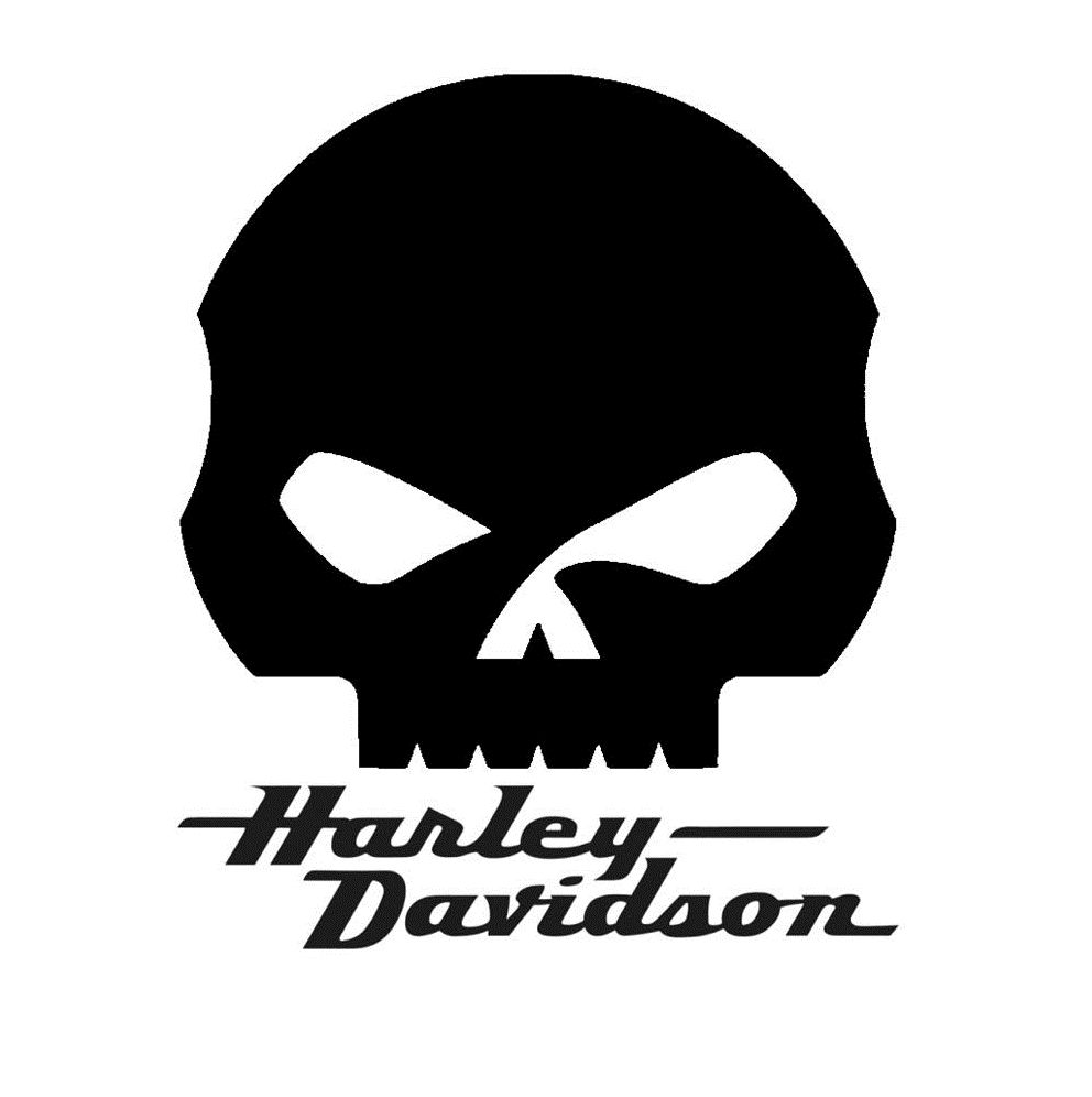 harley skull and word size approx 20 cm x 20cm. Black Bedroom Furniture Sets. Home Design Ideas