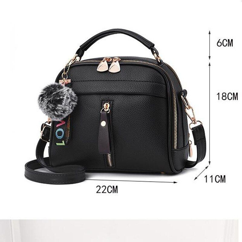 #2019 #fashion #women #handbag #pu #leather #messenger #bags #with #ball #toy #female #shoulder #ladies #party #handbags