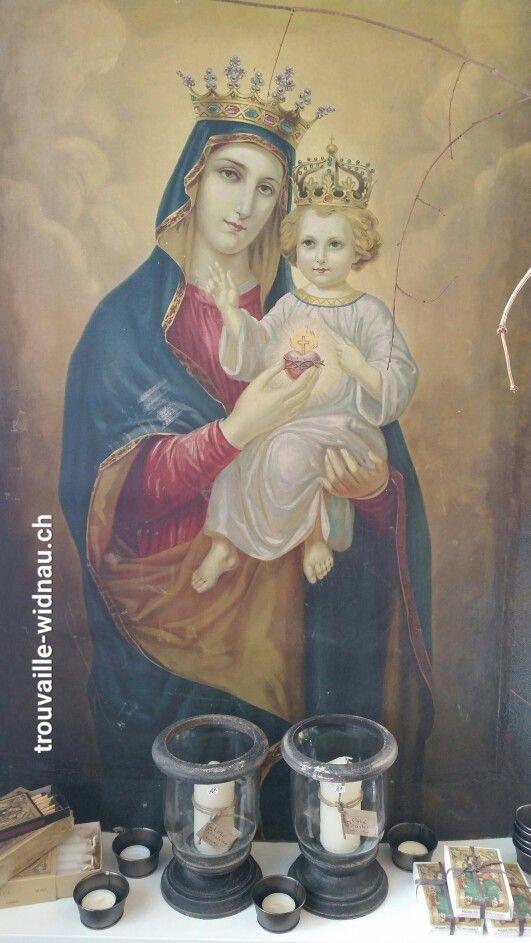 das porträt ist aus einer kirche im burgund. www.trouvaille-widnau.ch