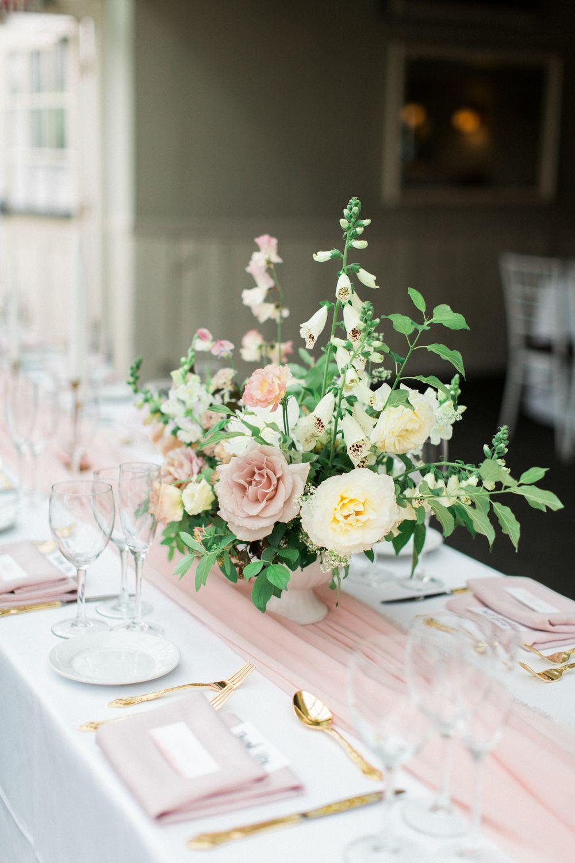 blush summer wedding tablescape design // crabtree kittle