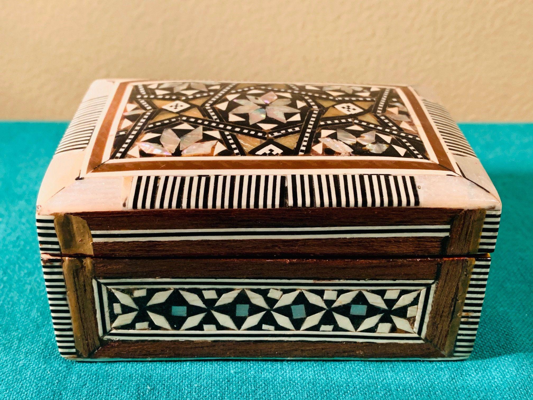 Wood Trinket Box Red Velvet Trinket Box Flower Trinket Box Jewelry Organizer Unique Gift Jewelry Holder Flowers Keepsake Gift Box