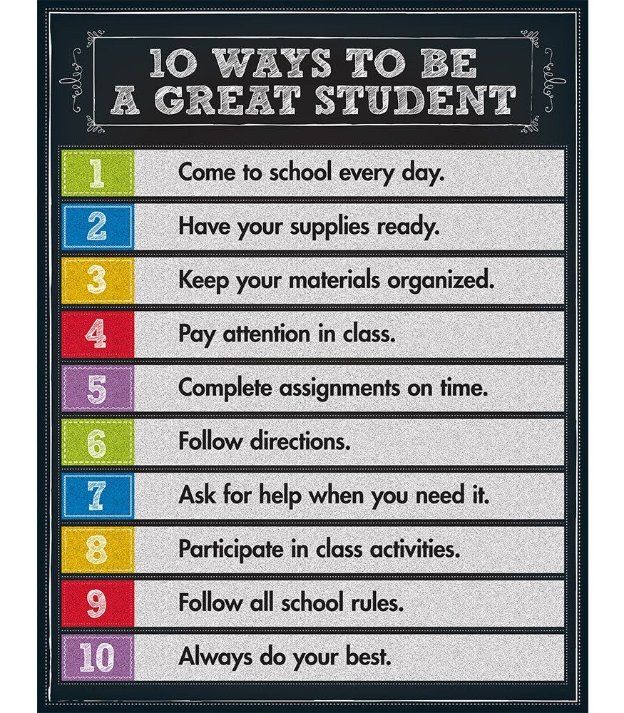 ways to be a great student chart best students ideas