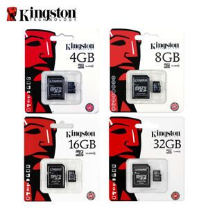 SDHC Class 4 Certified 16 Gigabyte Professional Kingston MicroSDHC 16GB Card for Kodak M580 Camera Phone with custom formatting and Standard SD Adapter.