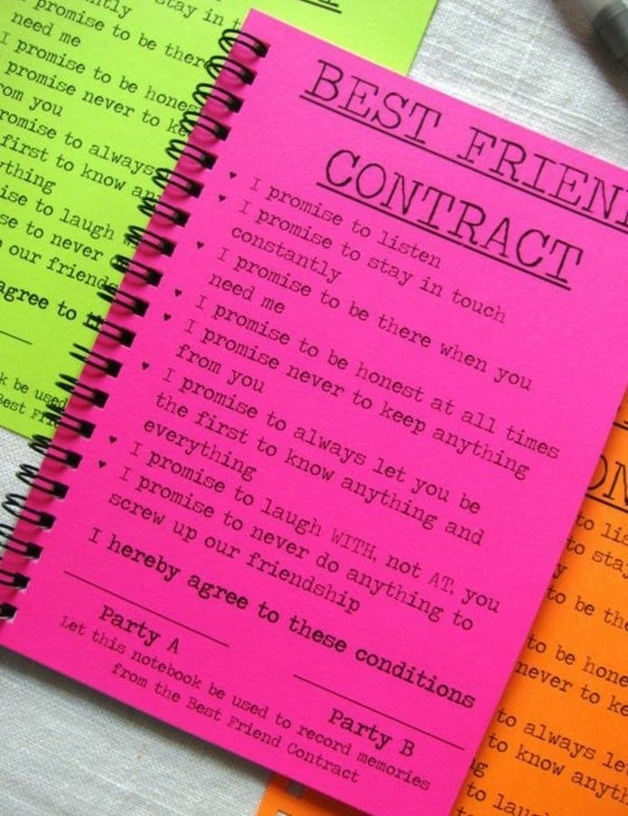 idee regalo per migliore amica quaderni spirale colorato contratto