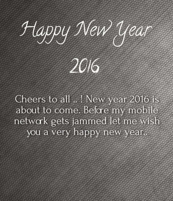 happy new year messages to friends and family 2016