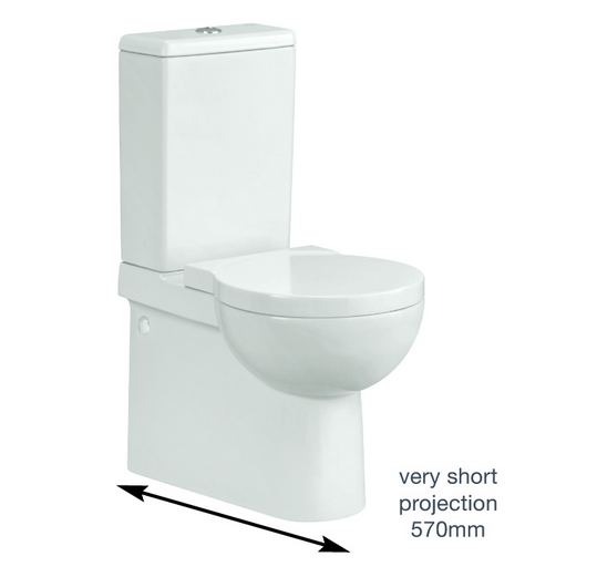 The Nano Close Coupled Short Projection Wc With Soft Close Seat Is