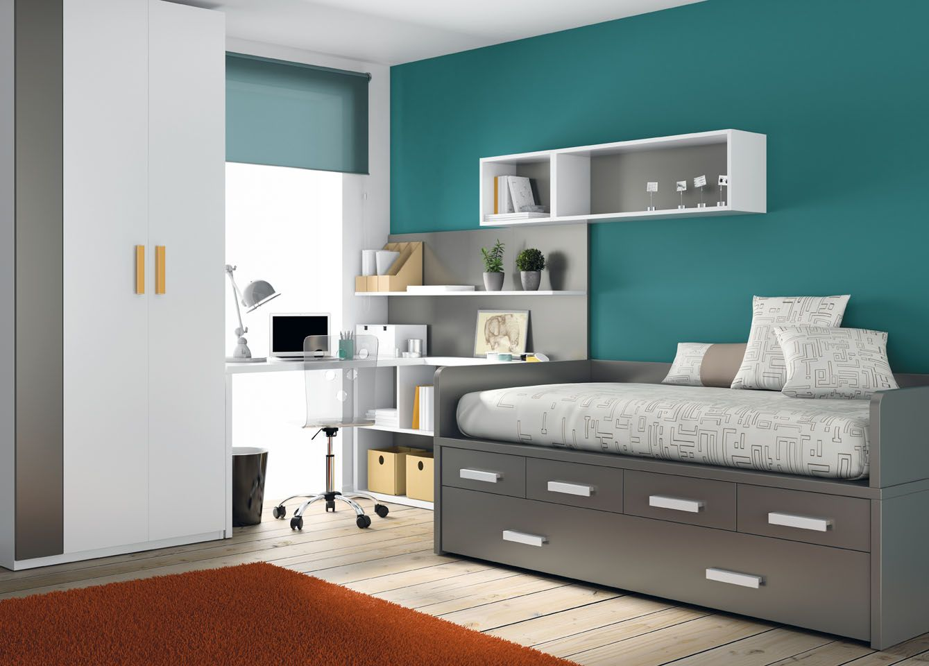 Las habitaciones juveniles de muebles ros dormitorios y - Habitaciones modulares juveniles ...