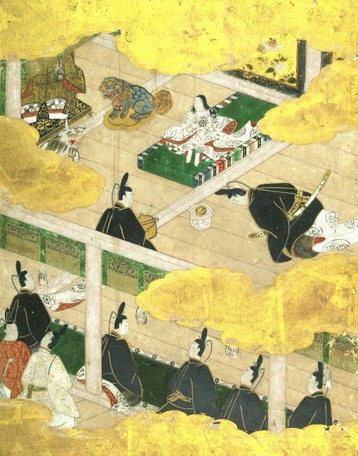 源氏物語色紙絵 館蔵品紹介 奈良大学博物館 nara university museum 日本美術 日本画 ペインティング