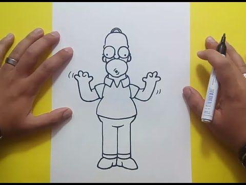 Como dibujar a Homer Simpson paso a paso 4 - Los Simpsons | How to draw Homer Simpson 4 - YouTube