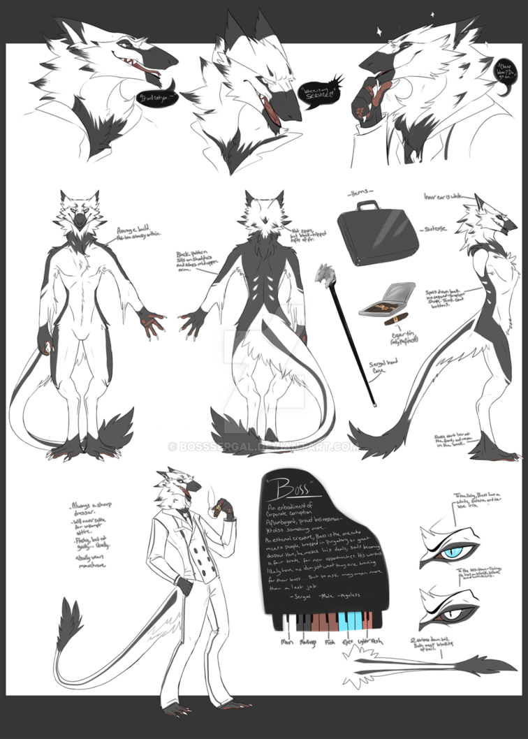 boss sergal ref sheet by my wonderfully talented and patient friend