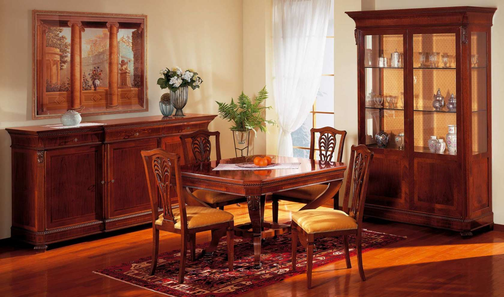 Hot And Comfortable Colors For A Furniture Collection Of A Dining Room Played On Precious Essences Soft Carvings And Luxury Dining Room Furniture Classic Furniture