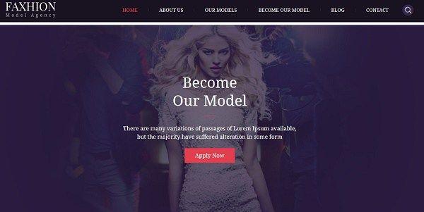 Faxhion Temas wordpress agencias de estilo y moda, modelos y ...
