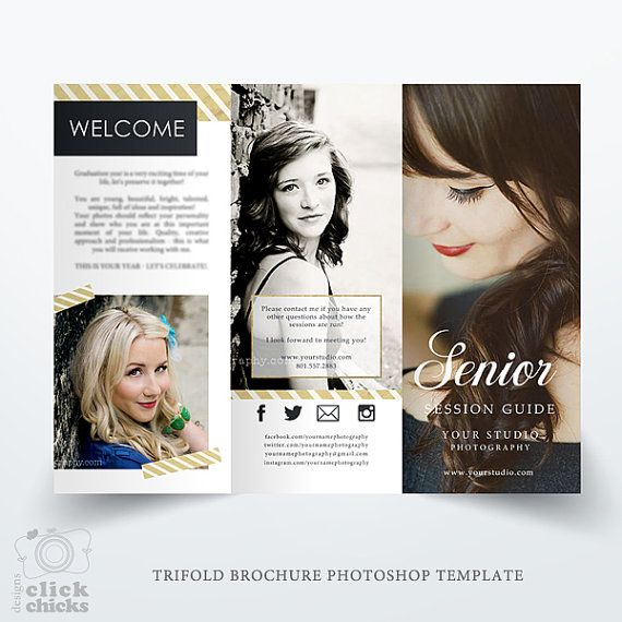 Senior Photography Guide - Trifold Brochure Template - Studio